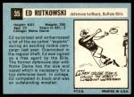 1964 Topps #35  Ed Rutkowski  Back Thumbnail