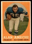 1958 Topps #12  Alan Ameche  Front Thumbnail