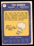 1969 Topps #2  Ted Harris  Back Thumbnail