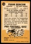 1967 Topps #130  Frank Buncom  Back Thumbnail
