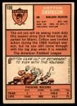 1966 Topps #109  Cotton Davidson  Back Thumbnail