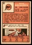 1966 Topps #82  Dave Kocourek  Back Thumbnail