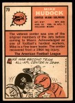 1966 Topps #79  Mike Hudock  Back Thumbnail
