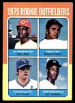 1975 Topps #622   -  Fred Lynn / Ed Armbrister / Tom Poquette / Terry Whitfield Rookie Outfielders  Front Thumbnail