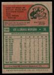 1975 Topps #180  Joe Morgan  Back Thumbnail