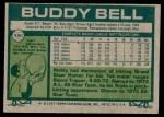 1977 Topps #590  Buddy Bell  Back Thumbnail