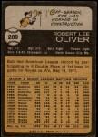 1973 Topps #289  Bob Oliver  Back Thumbnail