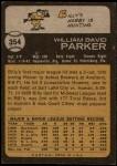 1973 Topps #354  Billy Parker  Back Thumbnail