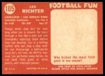 1958 Topps #105  Les Richter  Back Thumbnail