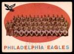 1959 Topps #31   Eagles Team Checklist Front Thumbnail