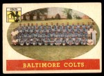 1958 Topps #110   Colts Team Front Thumbnail