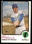 1973 Topps #140  Lou Piniella  Front Thumbnail