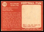 1958 Topps #110   Colts Team Back Thumbnail