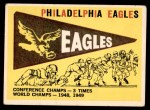 1959 Topps #83   Eagles Pennant Front Thumbnail
