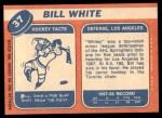 1968 Topps #37  Bill White  Back Thumbnail