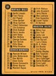 1967 Topps #59   Checklist # 1-59 Back Thumbnail