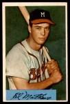 1954 Bowman #64  Eddie Mathews  Front Thumbnail