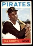 1964 Topps #440  Roberto Clemente  Front Thumbnail