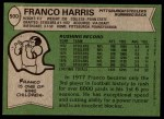 1978 Topps #500  Franco Harris  Back Thumbnail