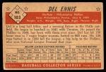 1953 Bowman #103  Del Ennis  Back Thumbnail