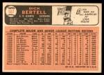 1966 Topps #587  Dick Bertell  Back Thumbnail