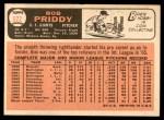 1966 Topps #572  Bob Priddy  Back Thumbnail