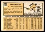 1963 Topps #567 BLB Jim Duffalo  Back Thumbnail