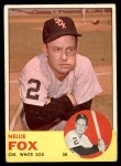 1963 Topps #525  Nellie Fox  Front Thumbnail