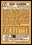 1968 Topps #80  Rod Carew  Back Thumbnail