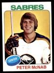 1975 Topps #252  Peter McNab  Front Thumbnail