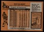 1975 Topps #225  Rod Gilbert   Back Thumbnail