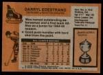1975 Topps #11  Darryl Edestrand   Back Thumbnail