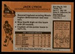1975 Topps #116  Jack Lynch   Back Thumbnail