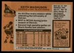 1975 Topps #176  Keith Magnuson   Back Thumbnail