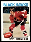 1975 Topps #176  Keith Magnuson   Front Thumbnail