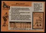 1975 Topps #233  Bill Hajt   Back Thumbnail