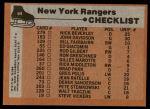 1975 Topps #94   Rangers Team Checklist Back Thumbnail
