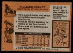 1975 Topps #62  Hilliard Graves   Back Thumbnail