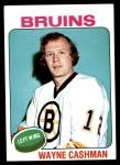1975 Topps #63  Wayne Cashman   Front Thumbnail