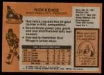 1975 Topps #39  Rick Kehoe   Back Thumbnail