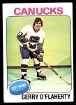 1975 Topps #307  Gerry O'Flaherty   Front Thumbnail