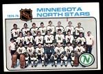 1975 Topps #89   North Stars Team Checklist Front Thumbnail