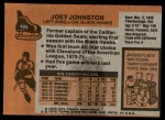 1975 Topps #193  Joey Johnston   Back Thumbnail