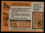 1975 Topps #169  Chris Oddleifson   Back Thumbnail