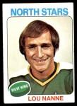 1975 Topps #143  Lou Nanne   Front Thumbnail