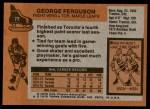 1975 Topps #77  George Ferguson   Back Thumbnail