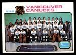 1975 Topps #97   Canucks Team Checklist Front Thumbnail