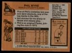 1975 Topps #308  Phil Myre   Back Thumbnail