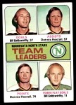 1975 Topps #321   -  Bill Goldsworthy / Dennis Hextall North Stars Leaders Front Thumbnail