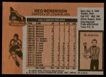1975 Topps #22  Red Berenson   Back Thumbnail